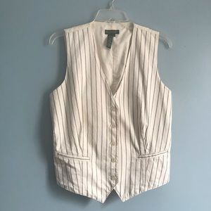 LRL Ralph Lauren Pinstripe Adjustable Vest